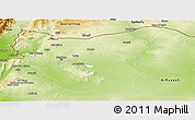 Physical Panoramic Map of Aleppo (Halab)