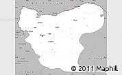 Gray Simple Map of Aleppo (Halab)