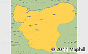 Savanna Style Simple Map of Aleppo (Halab)