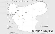 Silver Style Simple Map of Aleppo (Halab)