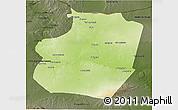Physical 3D Map of Ar Raqqah, darken