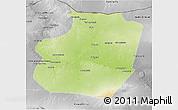 Physical 3D Map of Ar Raqqah, desaturated