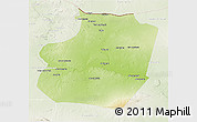 Physical 3D Map of Ar Raqqah, lighten