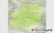 Physical 3D Map of Ar Raqqah, semi-desaturated