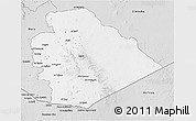 Silver Style 3D Map of As Suwayda