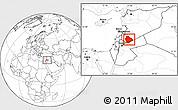 Blank Location Map of As Suwayda