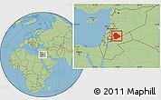 Savanna Style Location Map of As Suwayda