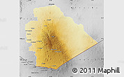 Physical Map of As Suwayda, desaturated