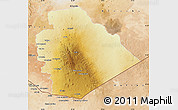 Physical Map of As Suwayda, satellite outside