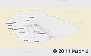 Classic Style Panoramic Map of As Suwayda, single color outside