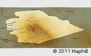 Physical Panoramic Map of As Suwayda, darken