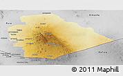 Physical Panoramic Map of As Suwayda, desaturated