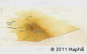 Physical Panoramic Map of As Suwayda, lighten