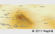 Physical Panoramic Map of As Suwayda
