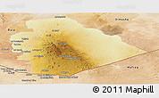 Physical Panoramic Map of As Suwayda, satellite outside