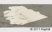 Shaded Relief Panoramic Map of As Suwayda, darken