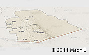 Shaded Relief Panoramic Map of As Suwayda, lighten