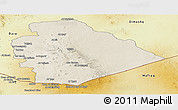 Shaded Relief Panoramic Map of As Suwayda, physical outside