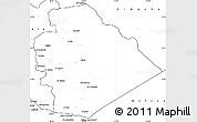 Blank Simple Map of As Suwayda