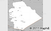 Gray Simple Map of As Suwayda