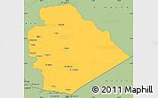 Savanna Style Simple Map of As Suwayda