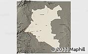 Shaded Relief 3D Map of Dara, darken