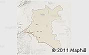 Shaded Relief 3D Map of Dara, lighten