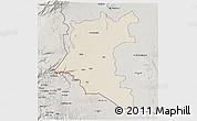 Shaded Relief 3D Map of Dara, semi-desaturated