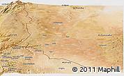 Satellite Panoramic Map of Dara