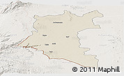 Shaded Relief Panoramic Map of Dara, lighten