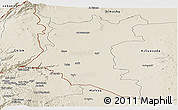 Shaded Relief Panoramic Map of Dara
