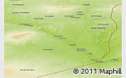 Physical Panoramic Map of Dayr Az Zawr