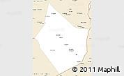 Classic Style Simple Map of Dayr Az Zawr