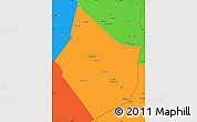 Political Simple Map of Dayr Az Zawr