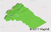 Political 3D Map of Dimashq, cropped outside