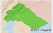 Political 3D Map of Dimashq, lighten