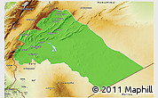 Political 3D Map of Dimashq, physical outside