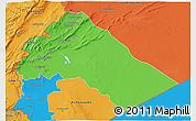 Political 3D Map of Dimashq