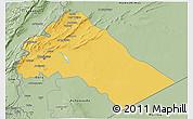Savanna Style 3D Map of Dimashq