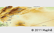Physical Panoramic Map of Dimashq