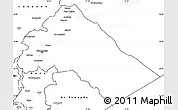 Blank Simple Map of Dimashq