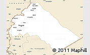 Classic Style Simple Map of Dimashq