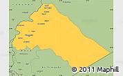 Savanna Style Simple Map of Dimashq