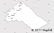 Silver Style Simple Map of Dimashq, cropped outside