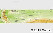 Physical Panoramic Map of Hamah