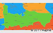 Political Simple Map of Hamah