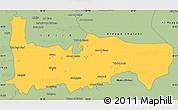 Savanna Style Simple Map of Hamah