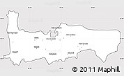 Silver Style Simple Map of Hamah, cropped outside