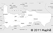 Silver Style Simple Map of Hamah