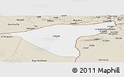 Classic Style Panoramic Map of Hasaka (Al Haksa)